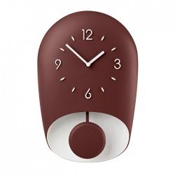 Horloge avec pendule Rouge