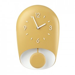Horloge avec pendule Jaune