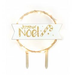 """Cake Topper à LED """"Joyeux Noël"""""""