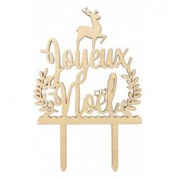 """Cake topper en bois """"Joyeux Noël"""""""