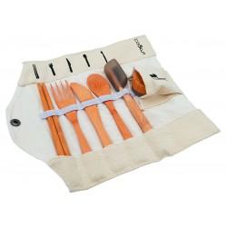 Kit repas en bambou Couverts+Brosse à dents COOKUT