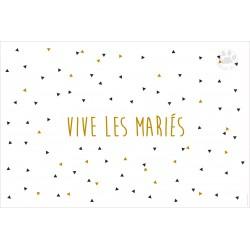 Carte Postale 10x15 « Vive les mariés »