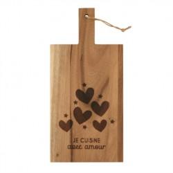 """Planche à découper en bois """"Avec amour"""""""