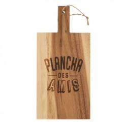"""Planche à découper en bois """"Plancha des amis"""""""