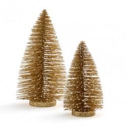 Sapin doré 21cm pour Déco de Noël