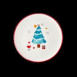 """Assiette de Noël en céramique """"Sapin de Noël"""""""