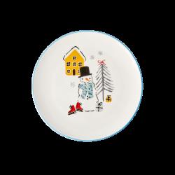 """Assiette de Noël en céramique """"Bonhomme de neige"""""""