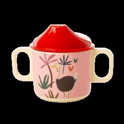 """Tasse à poignées avec bec verseur """"jungle rose"""" RICE"""