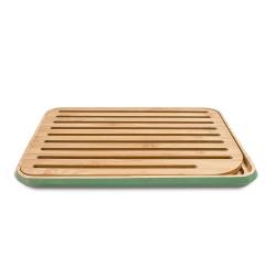 Planche à pain en bambou Vert sauge PEBBLY