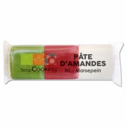 Pâte d'amande trio NOEL Vert/blanc/rouge