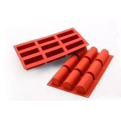 Moule en silicone 9 mini-bûches SILIKOMART