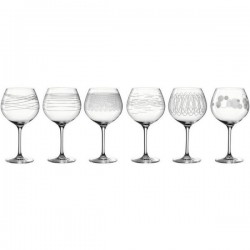 Lor de 6 verres à vin gravés CASELLA