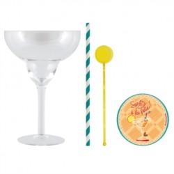 Coffret 2 verres à cocktail +dessous de verre A GOGO!