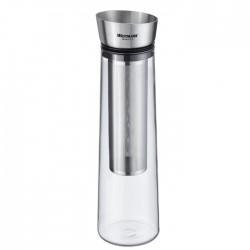 Carafe à eau en verre 1L avec infuseur inox