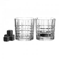 Set de 2 verres à whisky avec 8 pierres rafraîchissantes