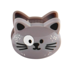Pince sachet animaux Chat gris