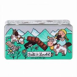 Boite métal Chocolat Tablettes Alpes