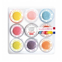 Set de 9 Mini colorants en poudre artificiels