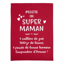 "Torchon Messages ""Super Maman"""