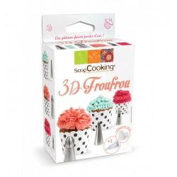 Kit de 3 douilles 3D FROUFROU avec 3 poches jetables