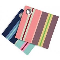 Lot de 2 maniques carrées multicolores rayées Nr.4