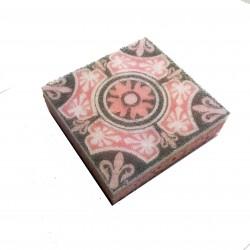 Eponge Carrée rose/gris