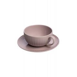 Tasse à thé avec soucoupe Rose MARNIE