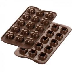 Moule à 15 chocolats Game 3D en silicone SILIKOMART