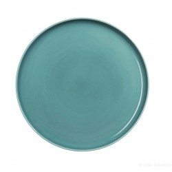 Assiette en porcelaine Pétrole KOLIBRI