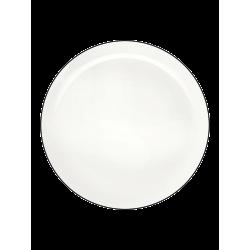 Assiette en porcelaine blanche Ligne noire ASA