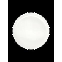 Assiette à dessert en porcelaine blanche Ligne noire ASA