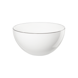 Bol à soupe en porcelaine blanche Ligne noire ASA