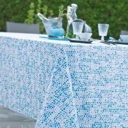 Nappe ronde 160 Enduit acrylique PERLE Bleu