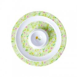 "Coquetier assiette ""Springflower"" Vert RICE"
