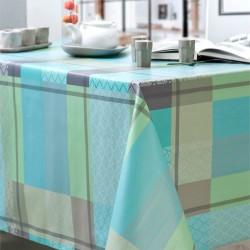 Nappe rectangle 160x200 Enduit PVC PALM Azur