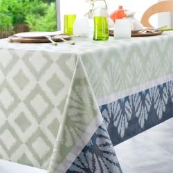 Nappe rectangle 160x200 Jacquard enduit IPANEMA Celadon