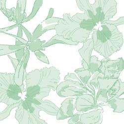 Serviettes en papier (x20) 40x40 Ethereal flower Vert