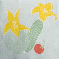 Serviettes en papier (x20) 40x40 Courgette