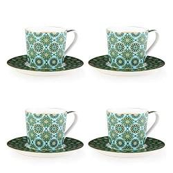 """Coffret 4 tasses à thé avec soucoupe """"Andalousia"""""""