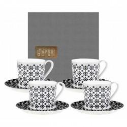 """Coffret 4 tasses à thé avec soucoupe """"Kaokab"""""""