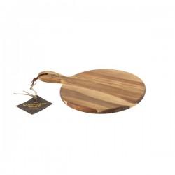 Planche à servir en acacia avec poignée 24,5cm