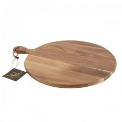 Planche à servir en acacia avec poignée 40cm