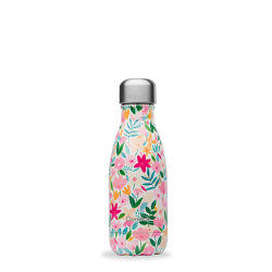 Bouteille isotherme 260ml Flora Rose QWETCH