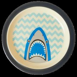"Assiette mélamine Rebord enfant ""Shark"" RICE"