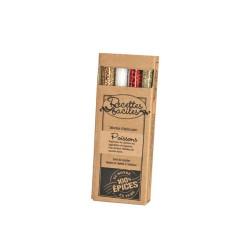 """Kit de 4 tubes d'épices """"Recettes faciles"""" Poissons"""
