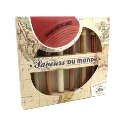 """Kit de 6 tubes d'épices """"Saveurs du monde"""" Américaines..."""