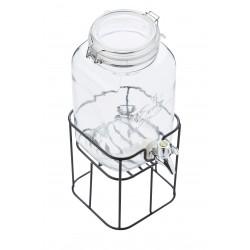 Fontaine 3,6L en verre avec support noir