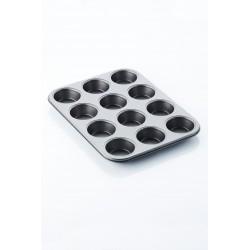 Moule à 12 muffins anti-adhérent