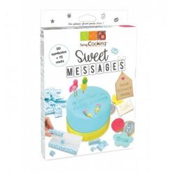 Kit Sweet messages (12 formes et 20 mots) SCRAPCOOKING