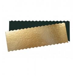 Carton support gâteau doré rectangle 10x29cm